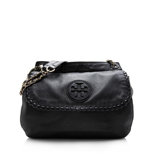 Tory Burch Leather Marion Saddle Bag