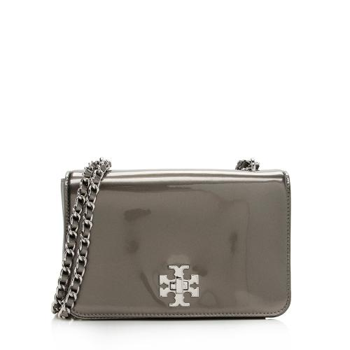 Tory Burch Metallic Patent Leather Mercer Shoulder Bag