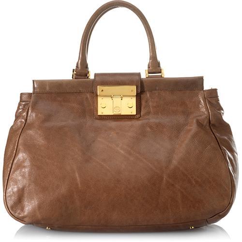 Tory Burch Oversized Norah Satchel Handbag