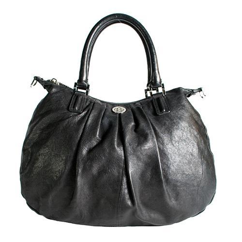 Tory Burch Pleated Leather Verona Satchel Handbag