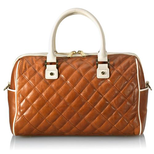 Tory Burch Quilted Leather Cut-Out Satchel