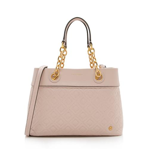 Tory Burch Quilted Leather Fleming Small Tote