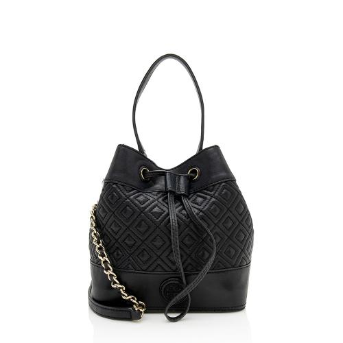 Tory Burch Quilted Leather Marion Mini Bucket Bag