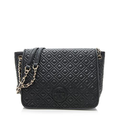 Tory Burch Quilted Leather Marion Small Flap Shoulder Bag