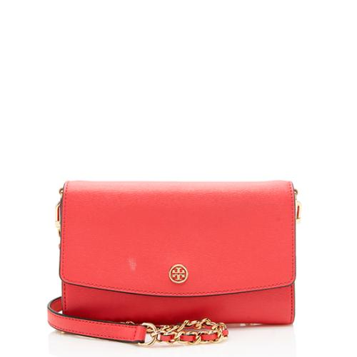 Tory Burch Saffiano Leather Parker Wallet On Chain Bag