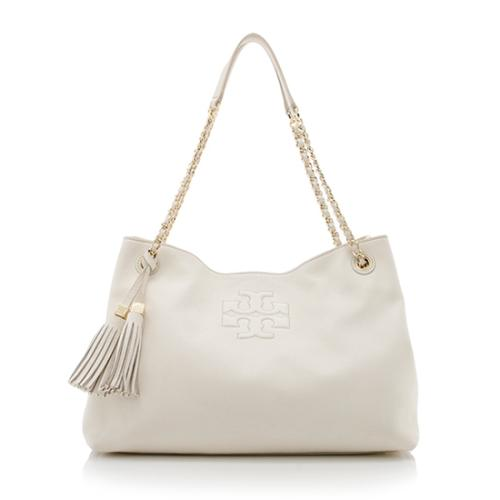Tory Burch Leather Thea Chain Slouchy Shoulder Bag