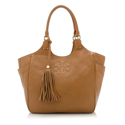 c9c859360f73 Tory Burch Leather Thea Round Tote