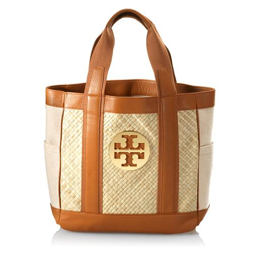 Tory Burch Vintage Tory Straw Tote