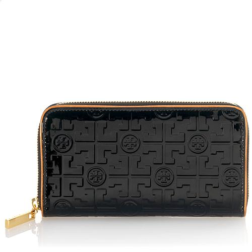 Tory Burch Zip Continental Embossed Wallet