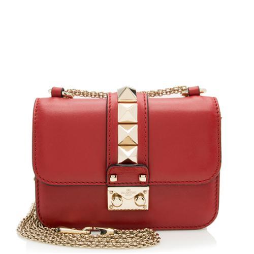 Valentino Calfskin Glam Lock Mini Shoulder Bag - FINAL SALE