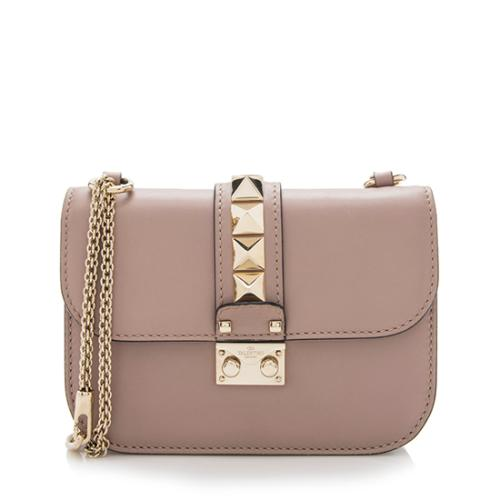 83610bcad Valentino Calfskin Glam Lock Small Shoulder Bag
