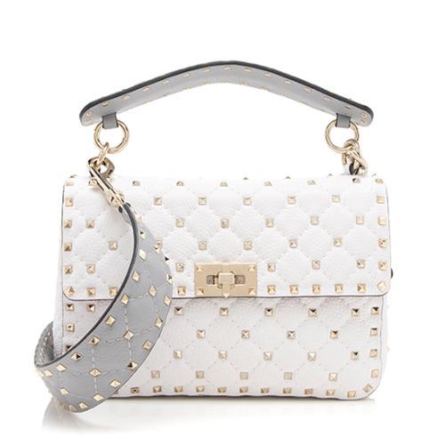 Valentino Calfskin Rockstud Spike Up Chain Shoulder Bag