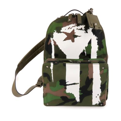 Valentino Canvas Camouflage Backpack