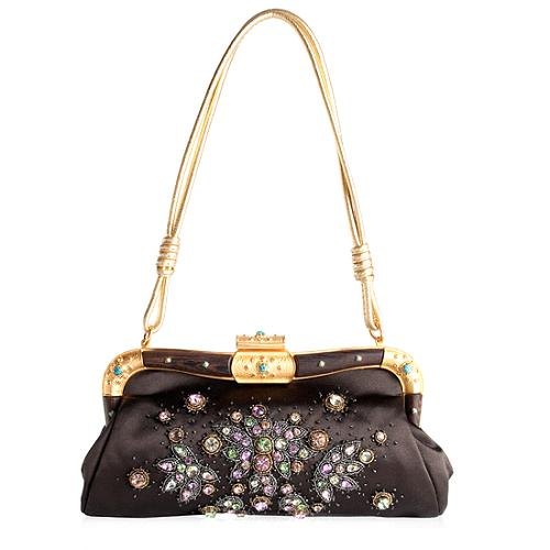 Valentino Crystal Embellished Framed Evening Shoulder Handbag