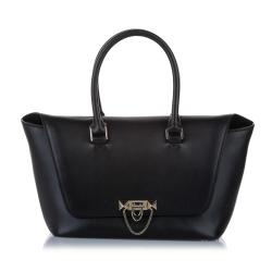 Valentino Demilune Leather Satchel