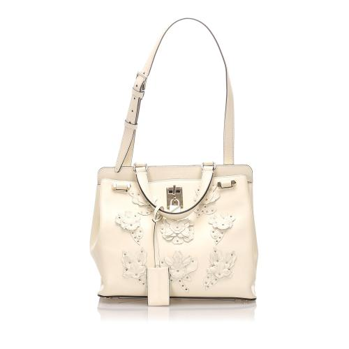 Valentino Floral Embellished Joylock Satchel