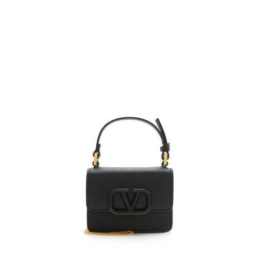 Valentino Grainy Calfskin VSLING Chain Mini Bag