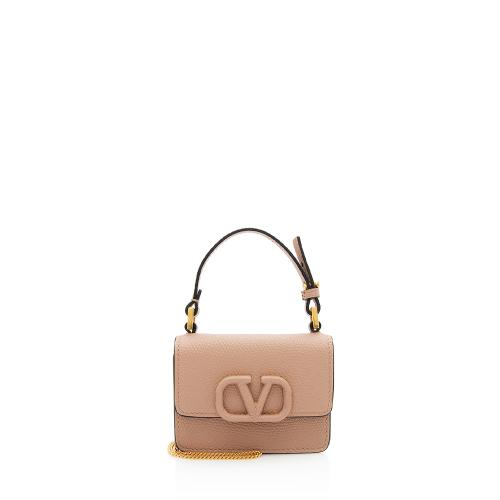Valentino Grainy Calfskin VSLING Chain Mini Bag