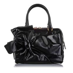 Valentino Patent Leather Lacca Bow Satchel