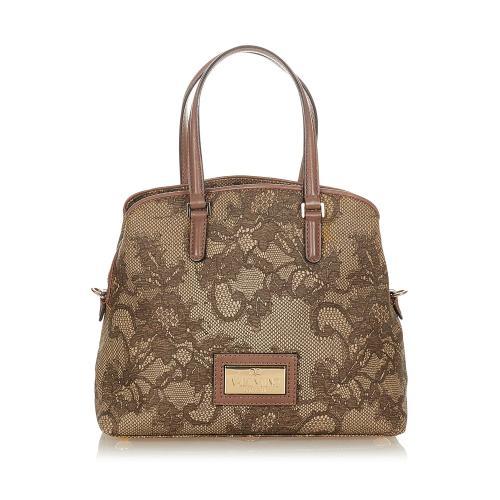 Valentino Lace Print Handbag