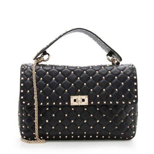 Valentino Lambskin Rockstud Spike Chain Shoulder Bag