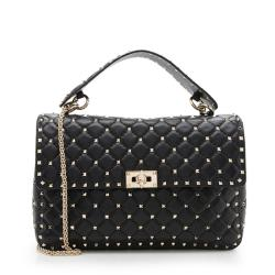 Valentino Lambskin Rockstud Spike Chain Shoulder Bag