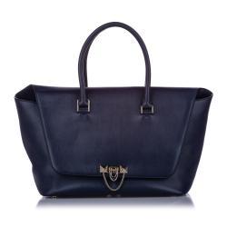 Valentino Large Demilune Leather Satchel