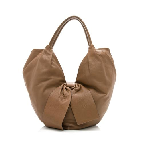 Valentino Leather 360 Bow Small Hobo