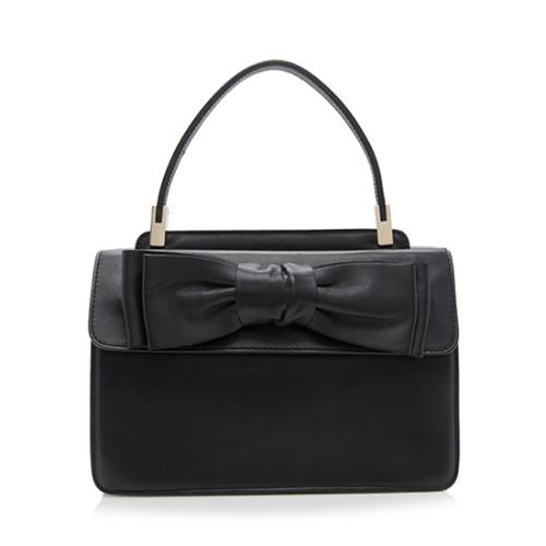 Valentino Leather Bow Top Handle Small Satchel