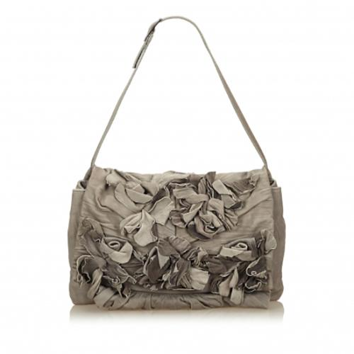 Valentino Leather Floral Shoulder Bag