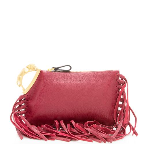 Valentino Leather Fringe C-Rockee Clutch