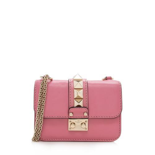 Valentino Leather Glam Lock Mini Shoulder Bag