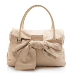 Valentino Leather Mia Bow Satchel