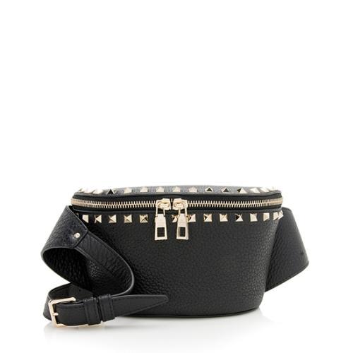 Valentino Leather Rockstud Belt Bag