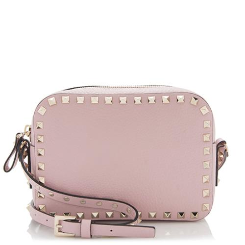 Valentino Pebbled Leather Rockstud Camera Bag