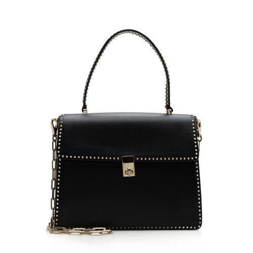 Valentino Leather Rockstud Chain Briefcase