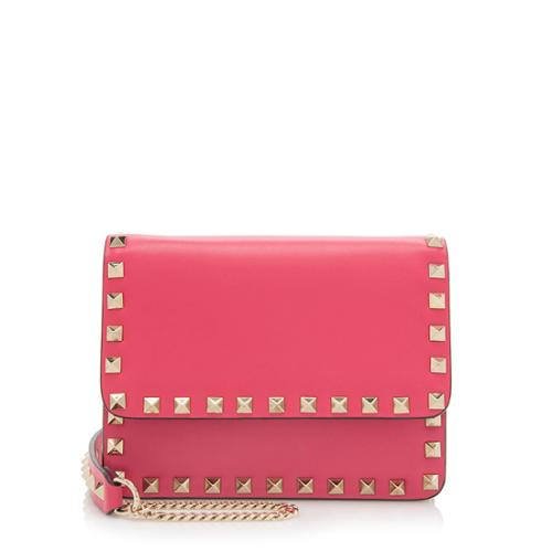 Valentino Leather Rockstud Chain Mini Crossbody Bag