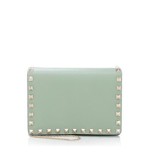 Valentino Leather Rockstud Pouch Crossbody Bag