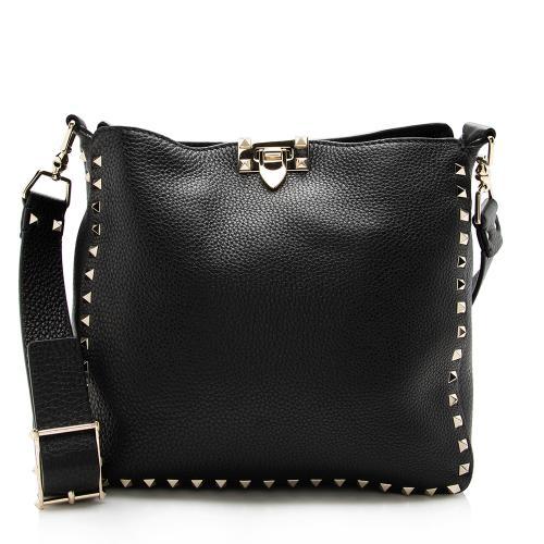 Valentino Leather Rockstud Messenger Bag