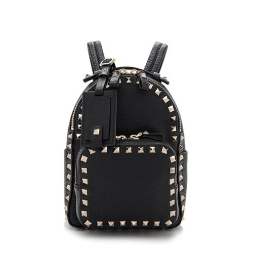 Valentino Leather Rockstud Mini Backpack