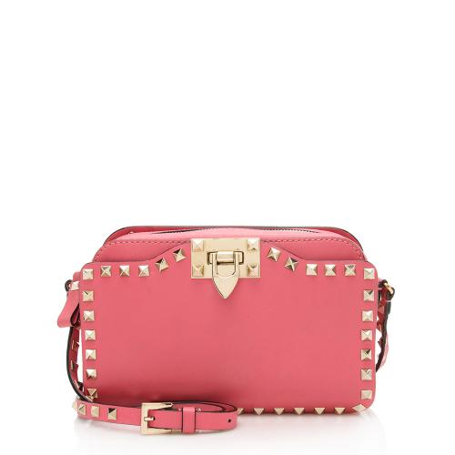 Valentino Leather Rockstud Pocket Camera Bag