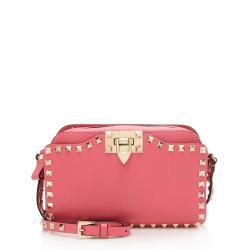 Valentino Leather Rockstud Pocket Camera Bag
