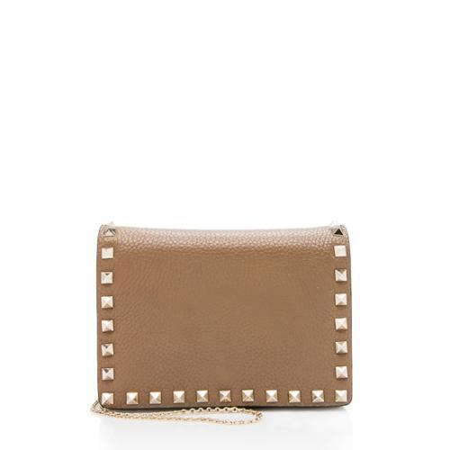 Valentino Leather Rockstud Pouch Crossbody Bag