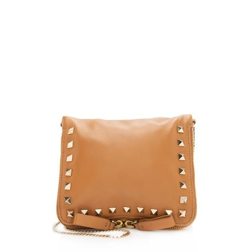 Valentino Leather Rockstud Shoulder Bag
