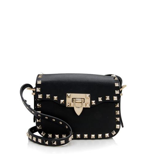 Valentino Leather Rockstud Small Crossbody Bag