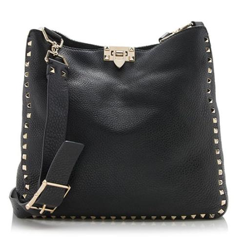 Valentino Leather Rockstud Small Messenger Bag