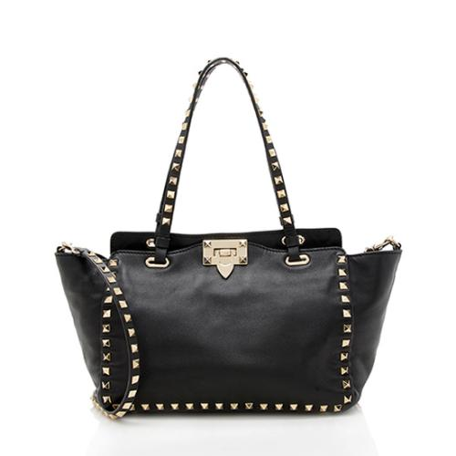 Valentino Leather Rockstud Small Tote
