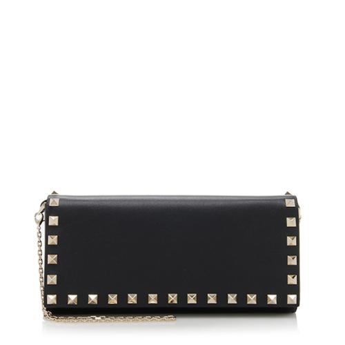 Valentino Leather Rockstud Wallet on Chain Bag