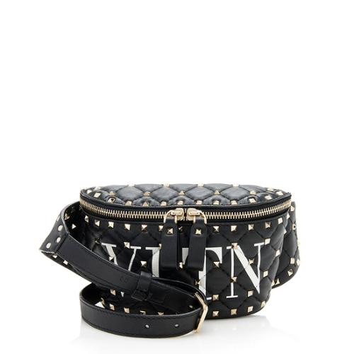 Valentino Leather Spike It VLTN Belt Bag