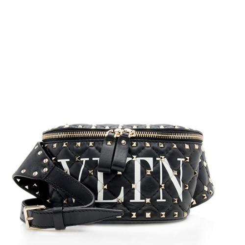 Valentino Leather Spike It VLTN Belt Bag